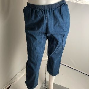 Alfred Dunner pull on blue denim pants